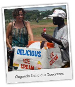 ijscoman in Oeganda
